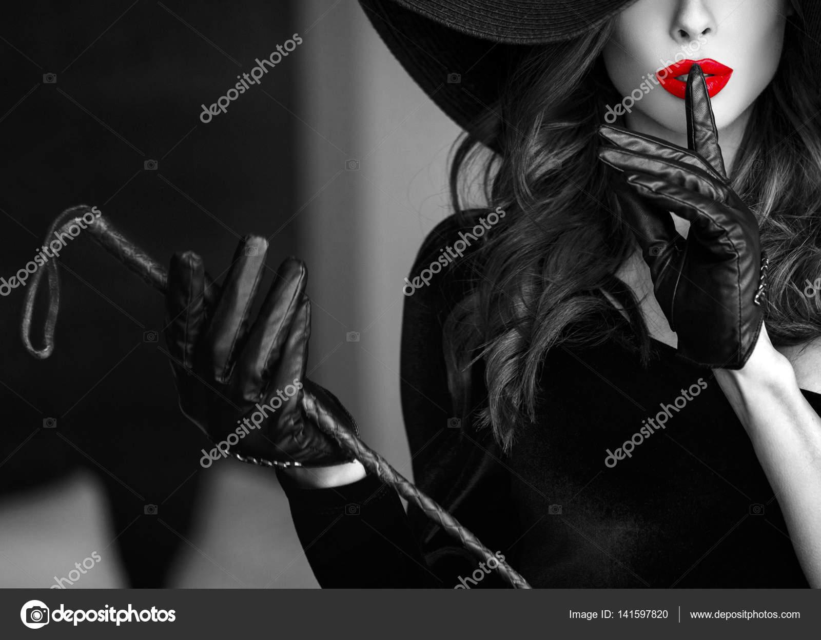 Mujer sexy no hables selectivo plantilla de portada de libro de ...