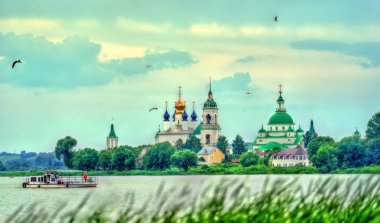 View of Spaso-Yakovlevsky Monastery in Rostov, the Golden Ring of Russia