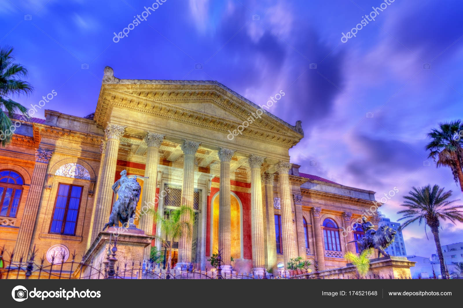 The Teatro Massimo Vittorio Emanuele, the biggest in Italy ...