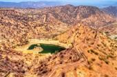 Fotografia Vista di Hanuman Sagar Lake e le fortificazioni di Amer. Jaipur, India