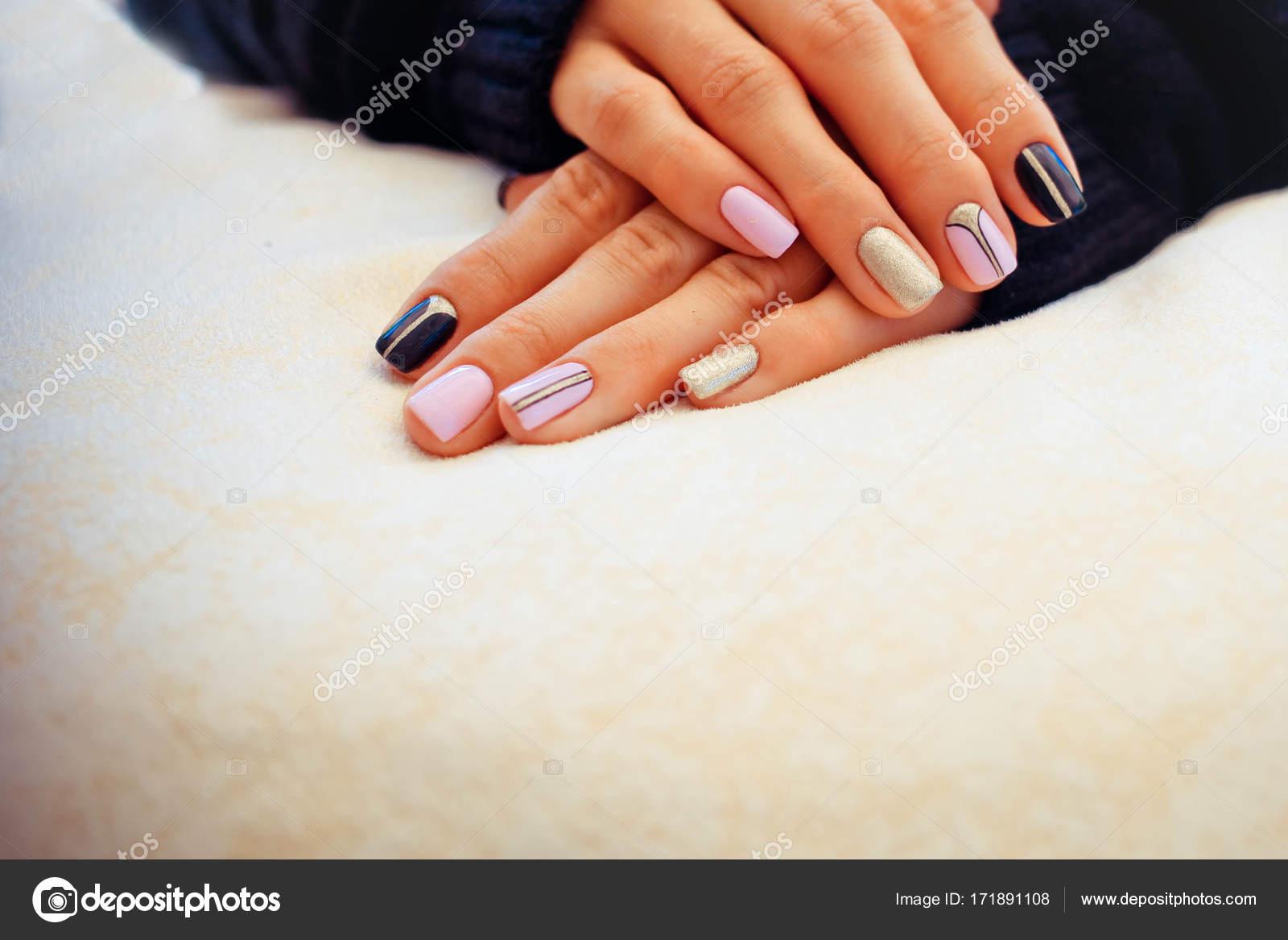 Natuurlijke Nagels Gel Polish Perfect Schoon Manicure Met Nul