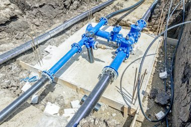 Industrial water pipes with valve, stopcock system