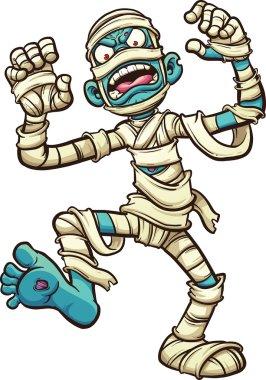 Scary cartoon mummy