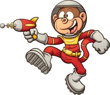 Cartoon space monkey