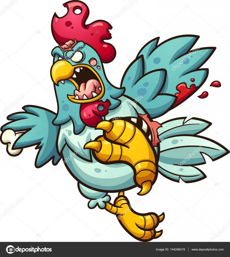 Angry Zombie Chicken Stock Vector C Memoangeles 144248419