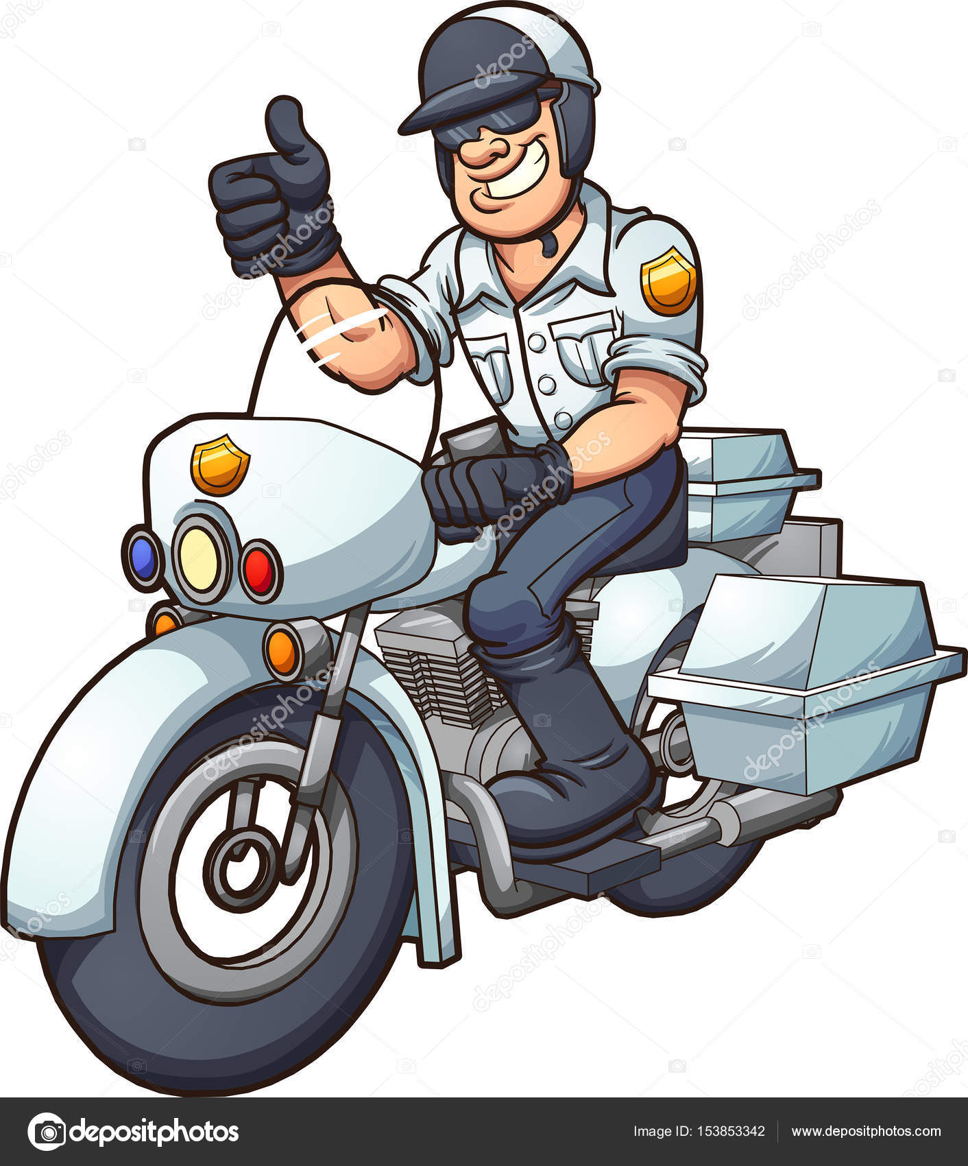 Cop Stock Quote | Cartoon Motorcycle Cop Stock Vector C Memoangeles 153853342