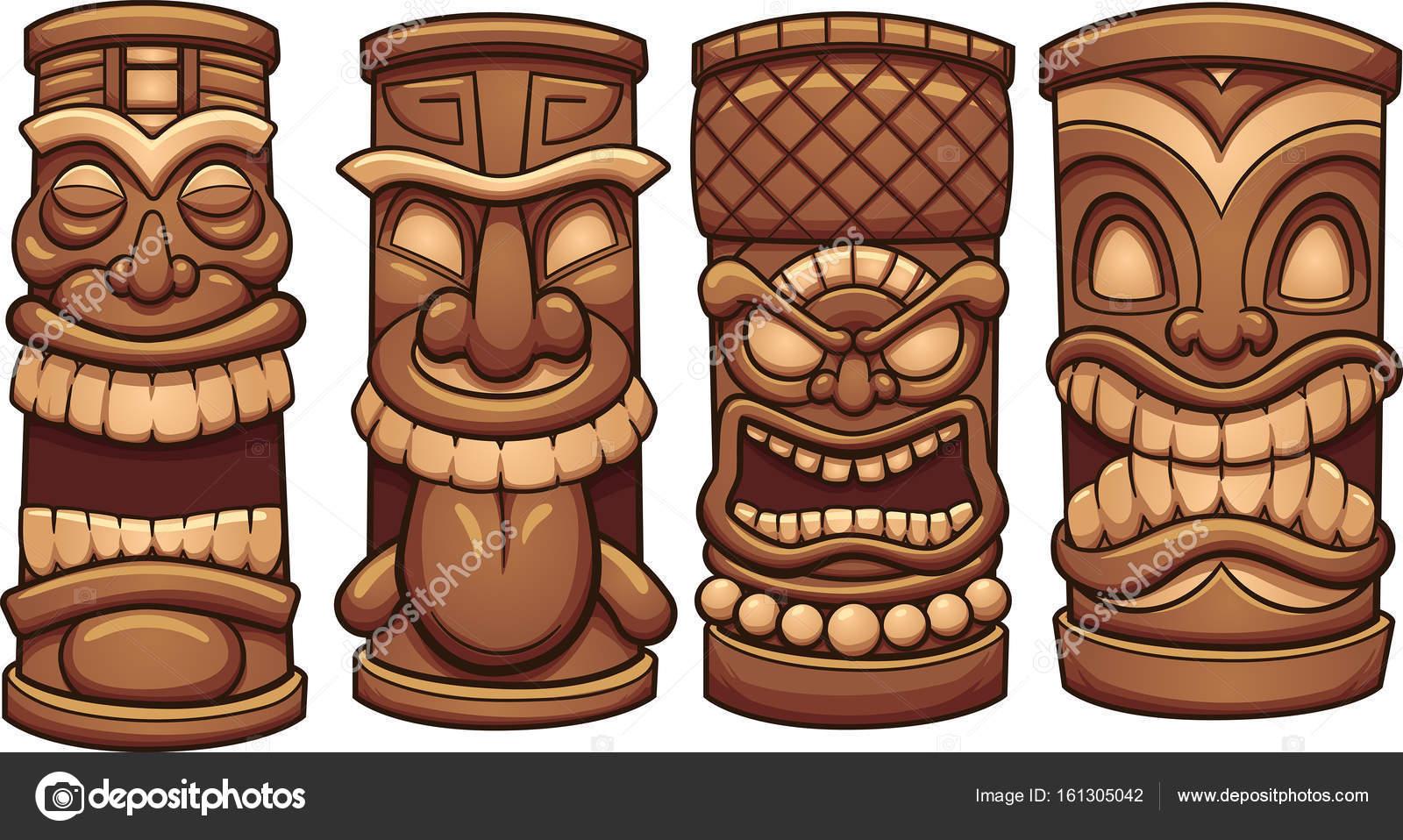 Cartoon tiki totems stock vector memoangeles 161305042 cartoon tiki totems stock vector stopboris Gallery