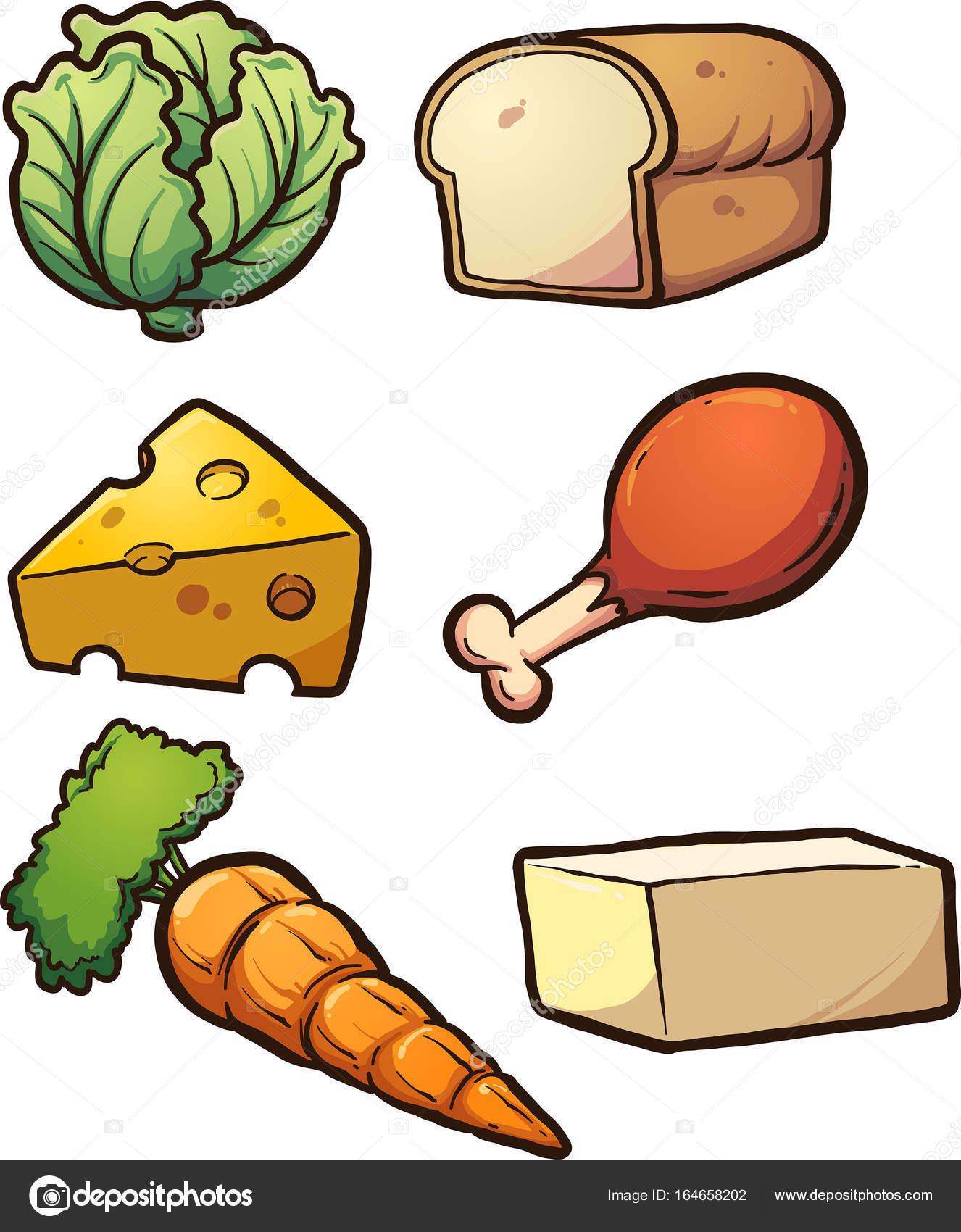 Alimentos De Dibujos Animados Vector De Stock