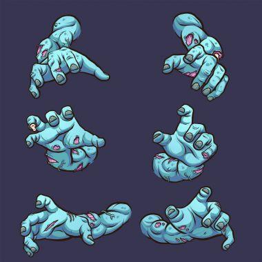 Reaching zombie arms