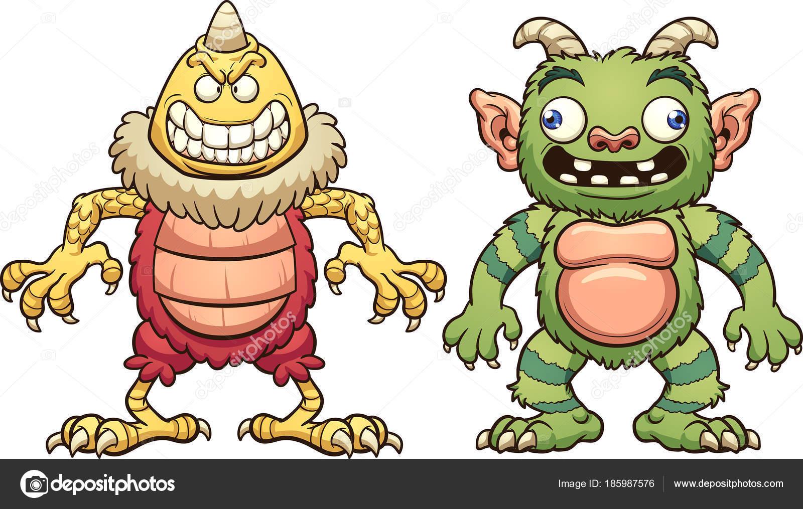 dibujos animados de monstruos con partes del cuerpo intercambiables