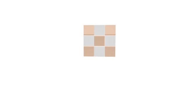 kostky 3d puzzle geometrie animace