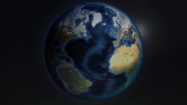 Erde Globus Meer Gräben