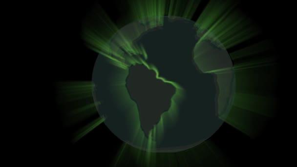Globe paprsky zprávy země světa