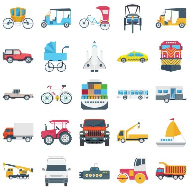 We are offering you a set of transport illustration icons, very useful for your transport and travel project.