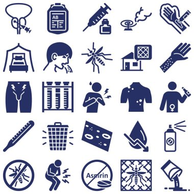Diseases and Treatment Isolated Vector Icon every single icon can easily modify or edit
