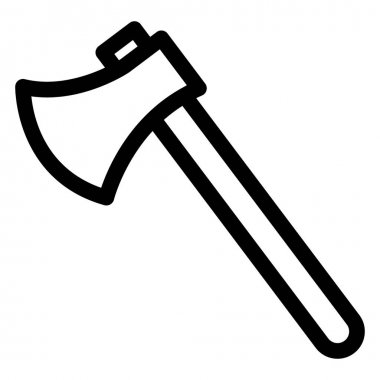 Axe, axe tool Isolated Vector Icon which can be easily modified or edited