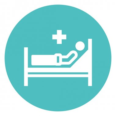 Hospital bed, medical Isolated Vector Icon that can be easily modified or edit