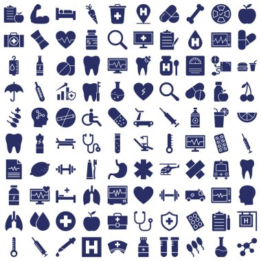 Medical and Health Vector icons Set fully editable