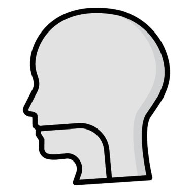 Human Head Isolated Vector icon which can be easily modified or edit
