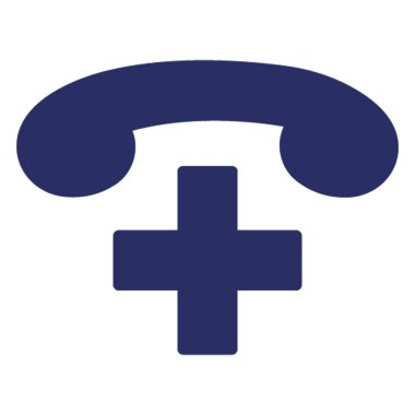 Hospital Helpline Isolated Vector icon which can be easily modified or edit