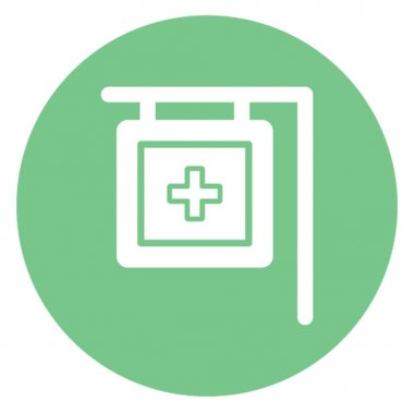 Pharmacy Signboard Isolated Vector icon which can be easily modified or edit