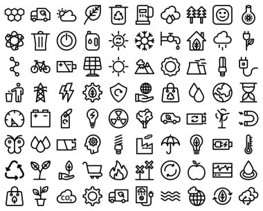 Ecology Bold recycle bold line vector icon which can easily modify or edit