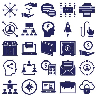 Global Business Isolated Vector icons set every single icon can be easily modify or edit
