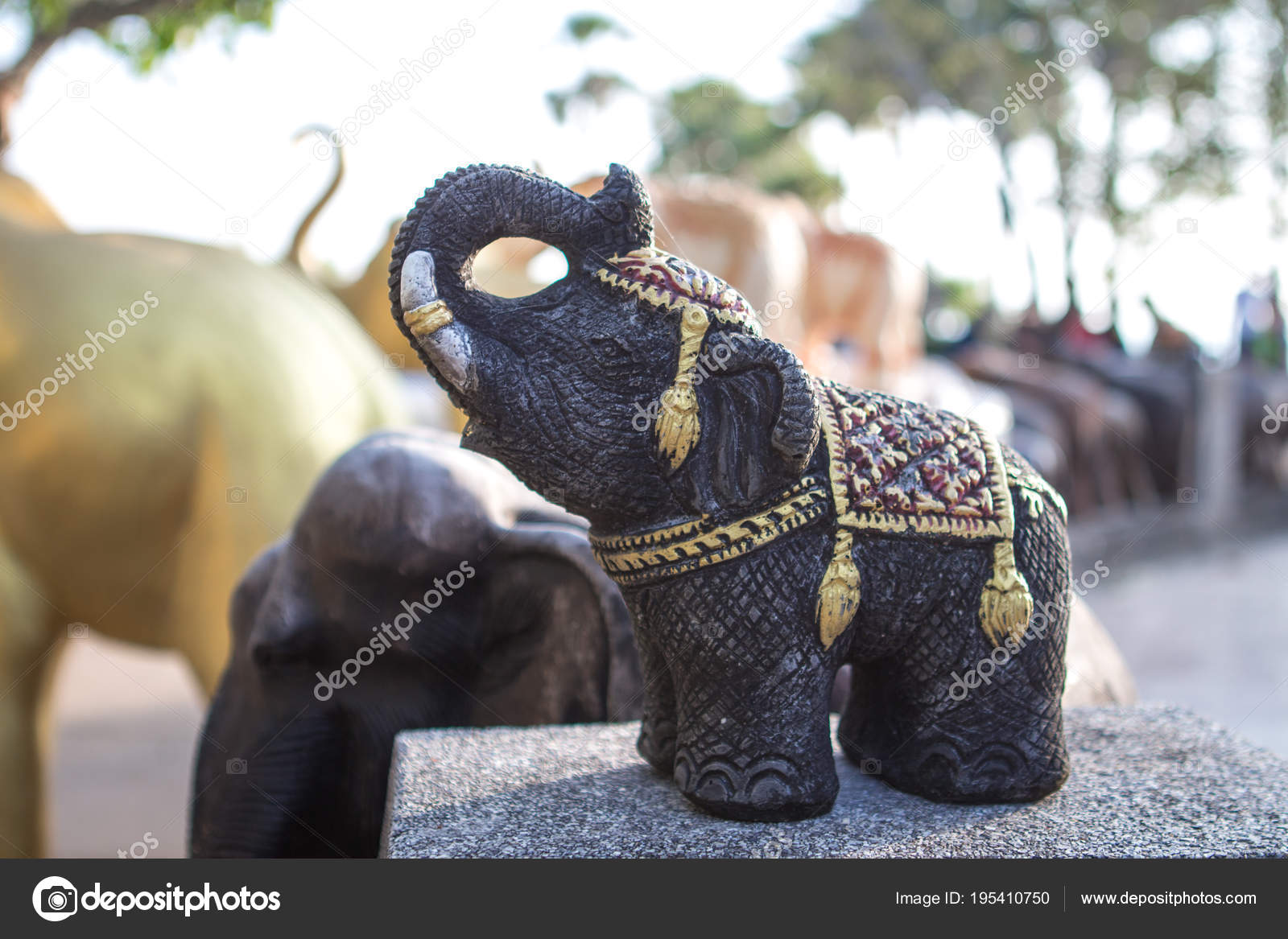 Figures Elephants Thai Religious Symbols Stock Photo