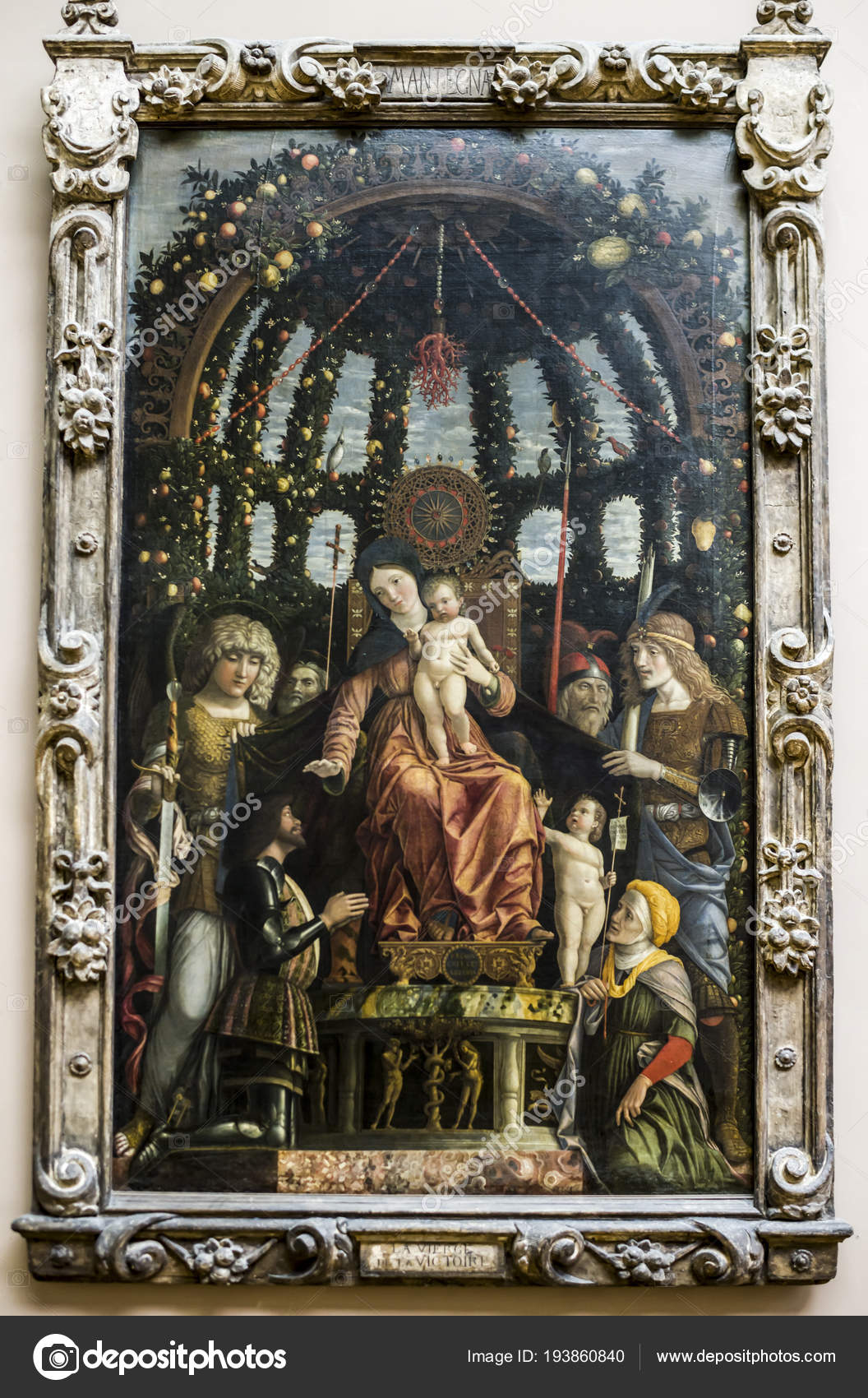 The Virgin of Victory.1496. Louvre — Stock Photo
