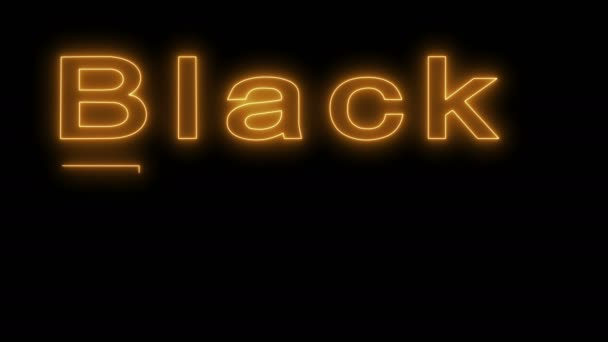 Black Friday sale neon sign in gold letters.
