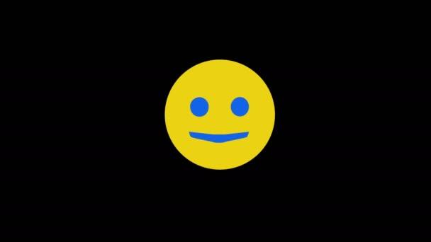 Žlutý úsměv mrkne s úsměvem a zamává rukou