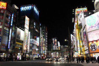 The happening and crowded area of Akihabara in Chiyoda. A heaven