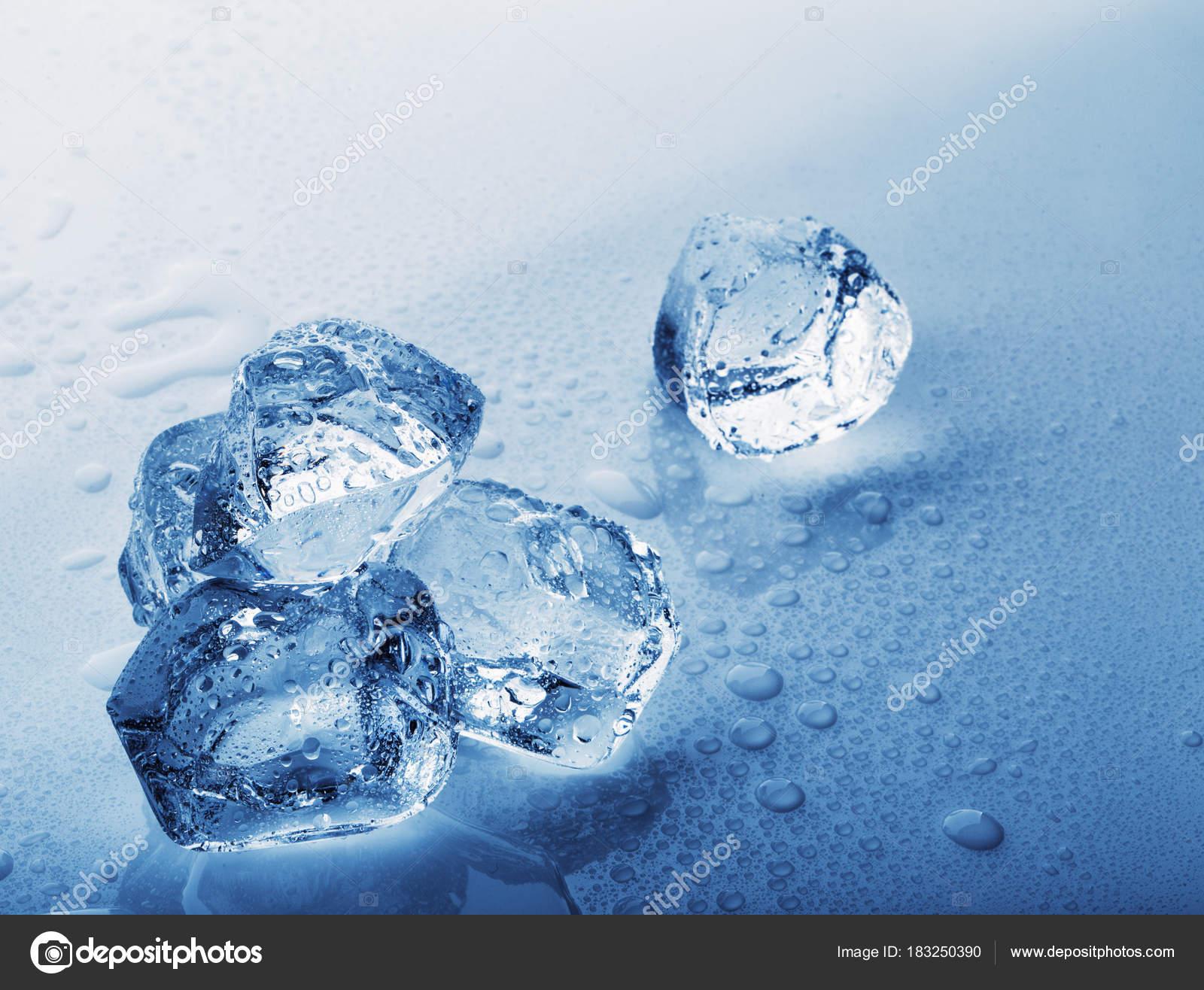 Frozen Ice Cubes Stock Photo