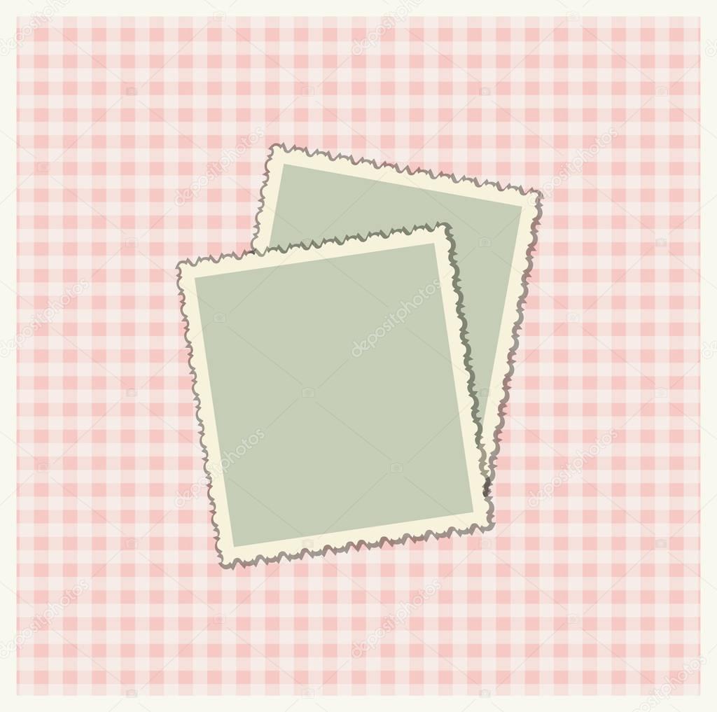 mod le de r servation de ferraille pour avec cadres photo image vectorielle tatiananna. Black Bedroom Furniture Sets. Home Design Ideas
