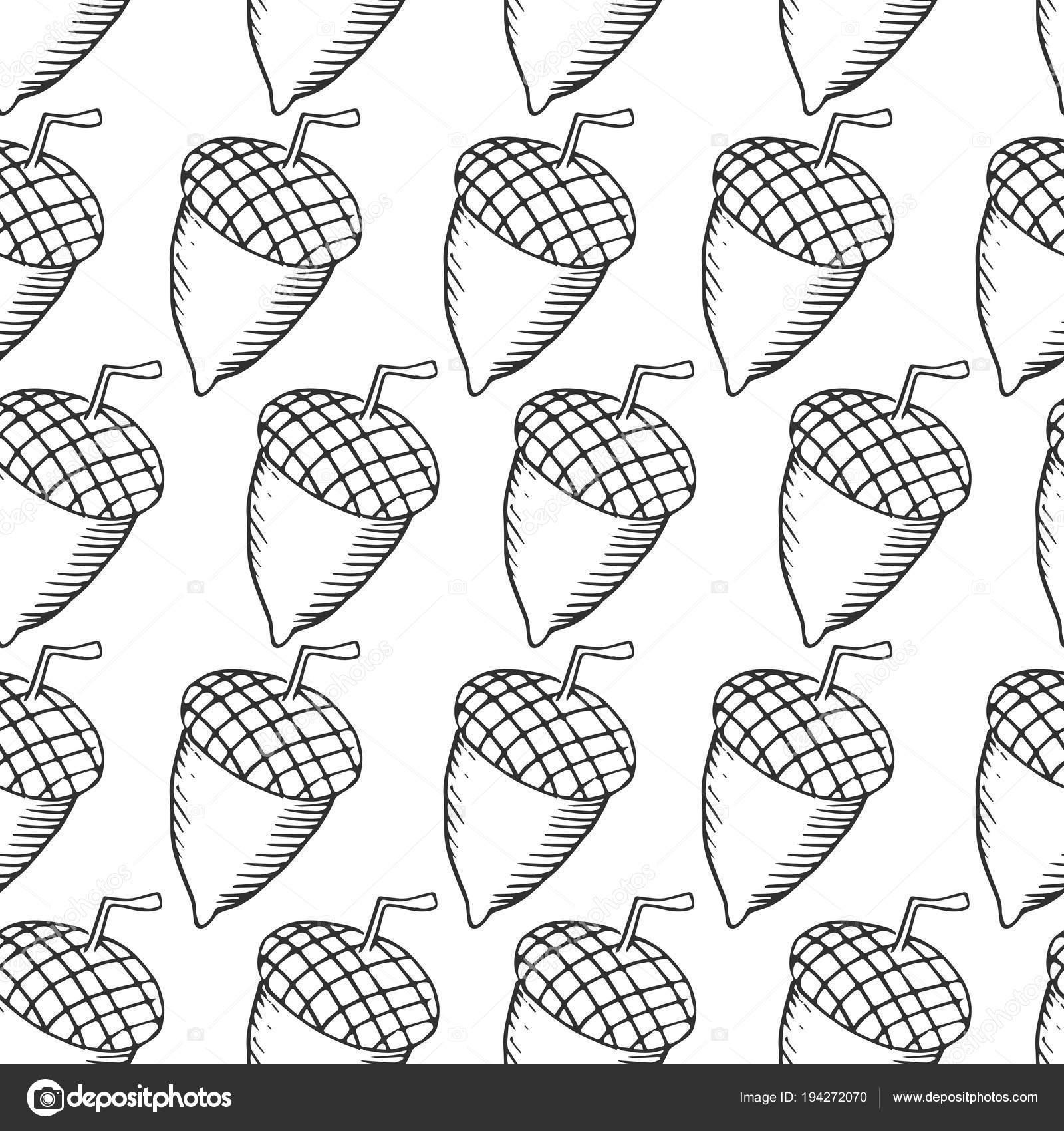 Acorn Icon Vector Illustration — Stock Vector © F-dor #194272070