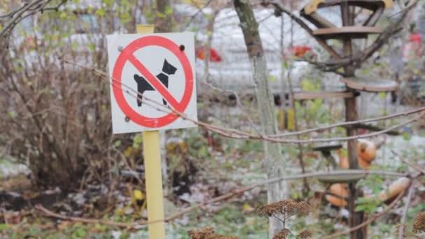 Verbotsschild Keine Hunde im Park. Sicherheitszone Spielplatz