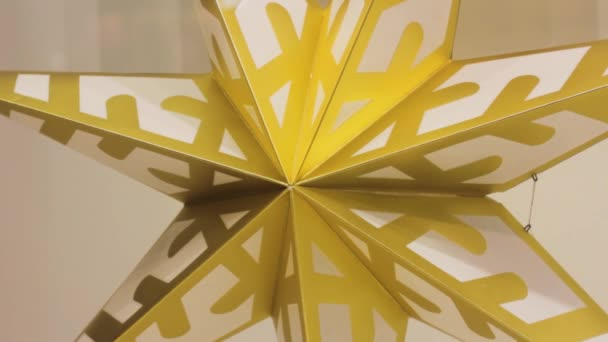 zlatý papír hvězda dekorace vzor geometrie symetrické žlutá