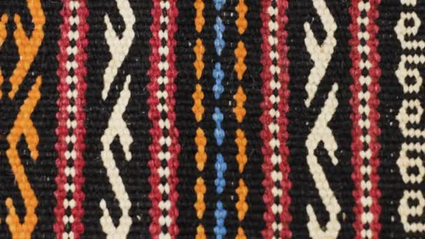 Aztec embroidered pattern stitches blanket color symmetry background