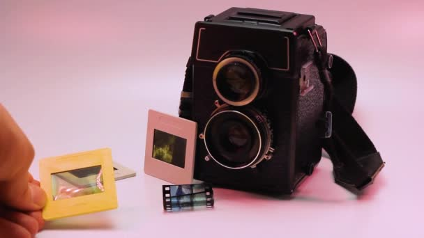 vintage camera and film developing lomography equipment studio laboratory