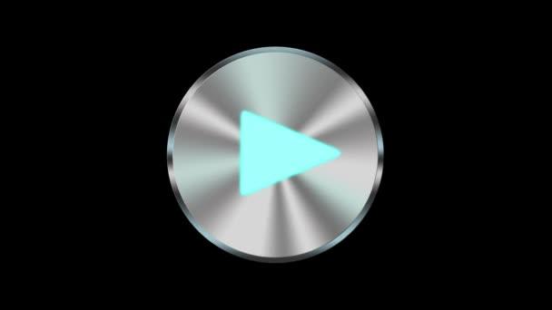 metalové tlačítko přehrávání skladeb multimediální ikony