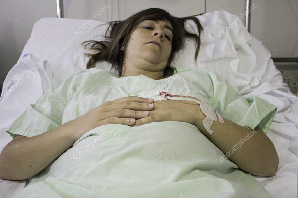 Deprimierter Jugendlicher Weiblicher Patient, Der Im