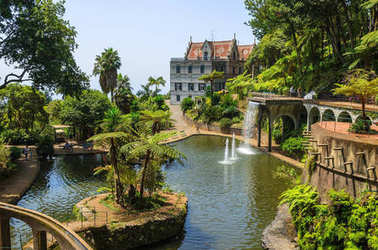 Monte tropical gardens in Funchal town, Madeira island, Portugal