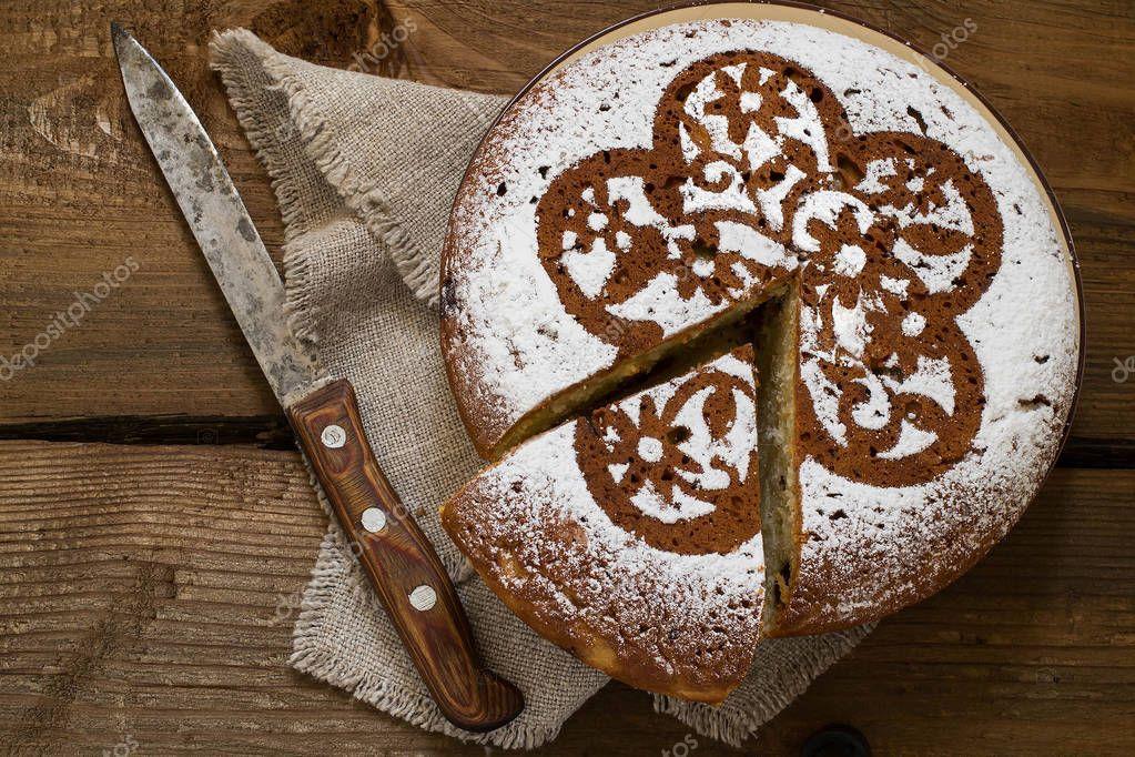 Hausgemachte Kuchen Mit Quark Und Schokoladenstuckchen Stockfoto