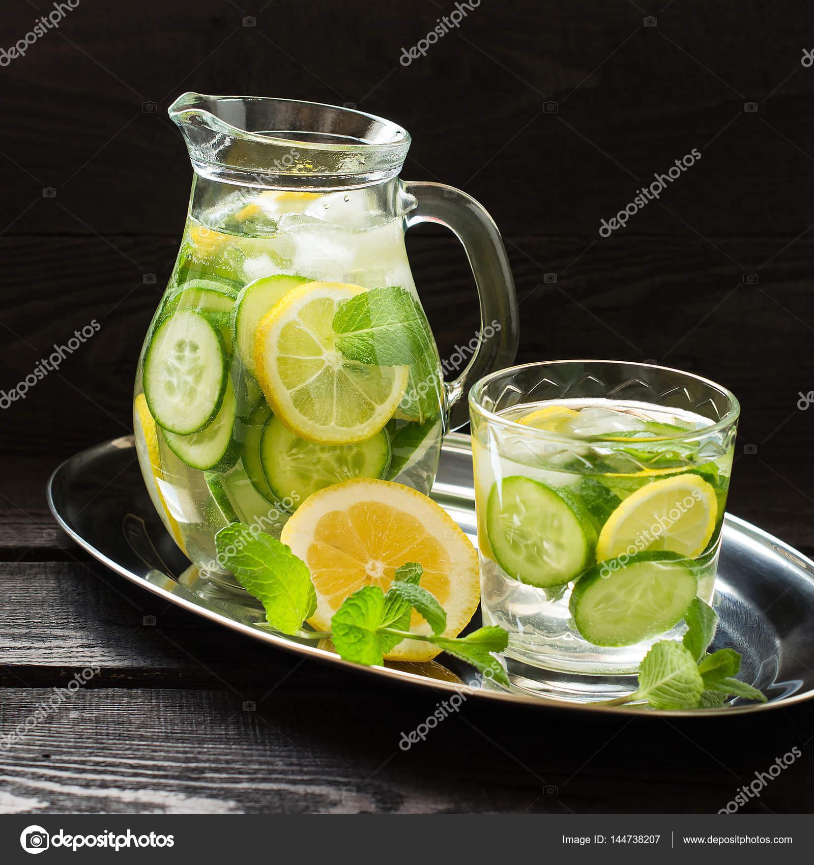 Dieta de limon jengibre pepino y menta