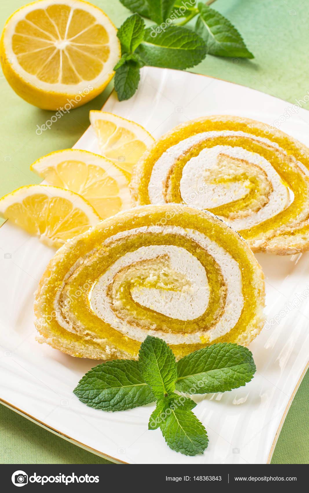 Dessert avec confiture citron