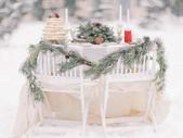 Hochzeit Dekorationen Winter im freien