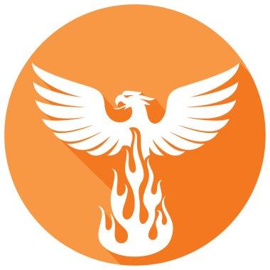 phoenix bird flat icon