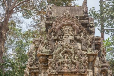 Ancient Khmer carving of Krishna