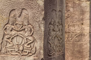 Ancient Khmer carving of Krishna
