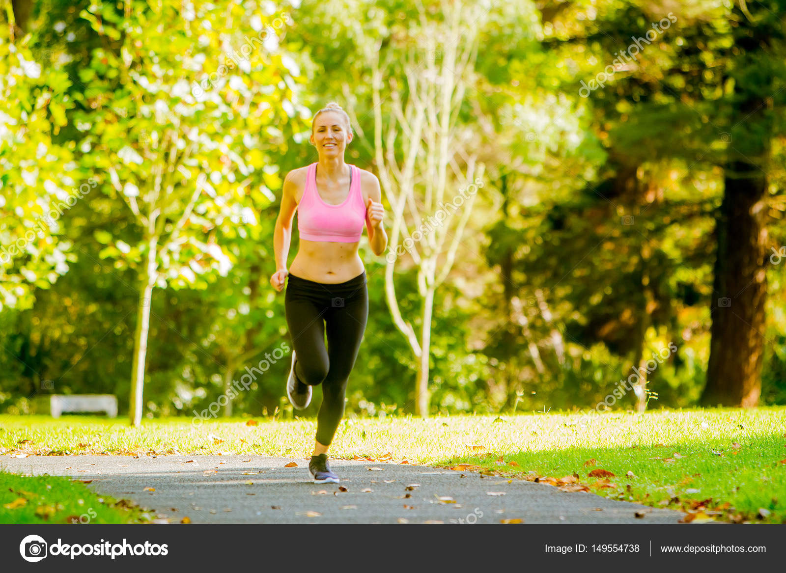 runner jogging in summer park \u2014 stock photo © volare2004 149554738female runner wearing sport clothes jogging in summer park green trees background \u2014 photo by